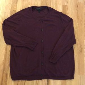 Lane Bryant purple Plum Cardigan SZ 18/20
